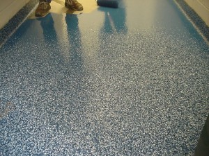 Epoxy coating for industrial floors