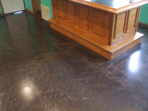 A marble finished Epoxy flooring.