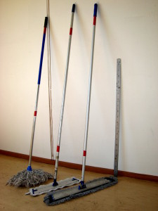 Mop and sweep your garage floors