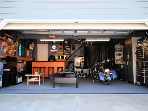 Conversion of a garage to a man cave