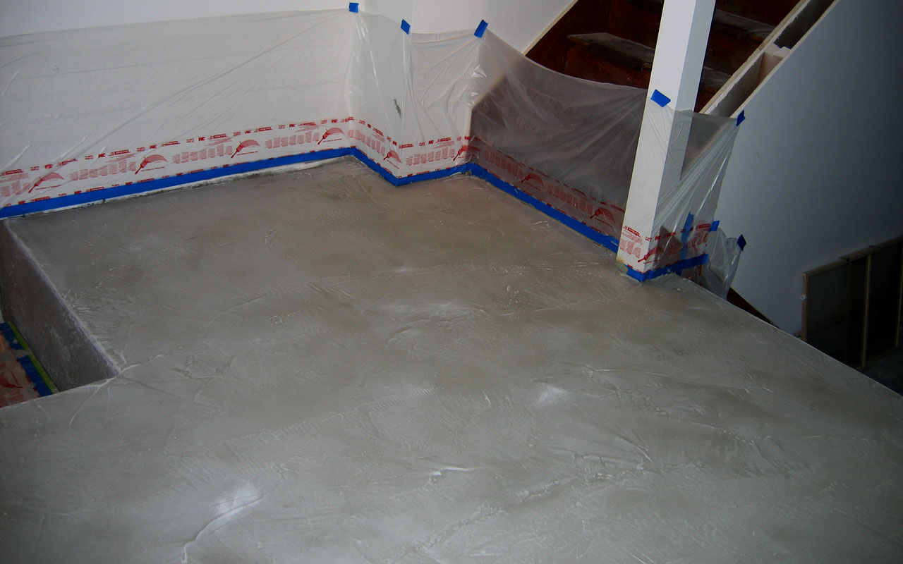 Basement coating examples archives bach custom coatings for Concrete floor covering