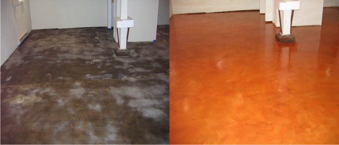 non-reactive-stain-in-a-basement