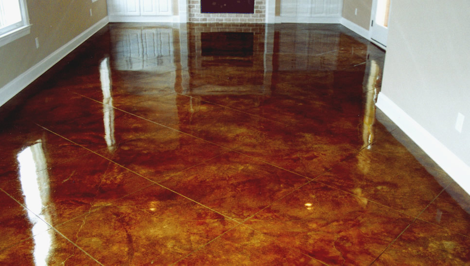 Diamond Grinding Concrete Stained Flooring